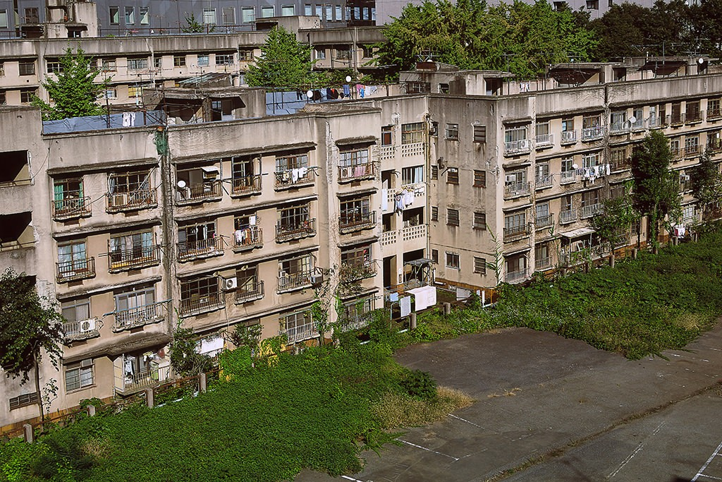 同潤会江戸川アパートメントの建て替え前の外観の写真