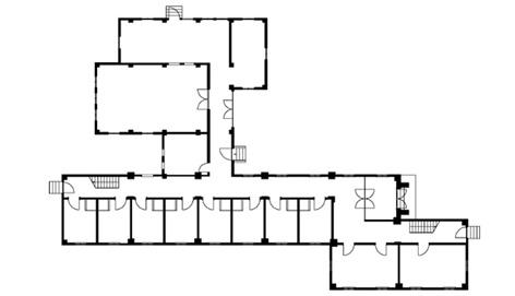 求道学舎 1階平面図