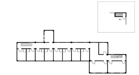 求道学舎 3階・屋上平面図